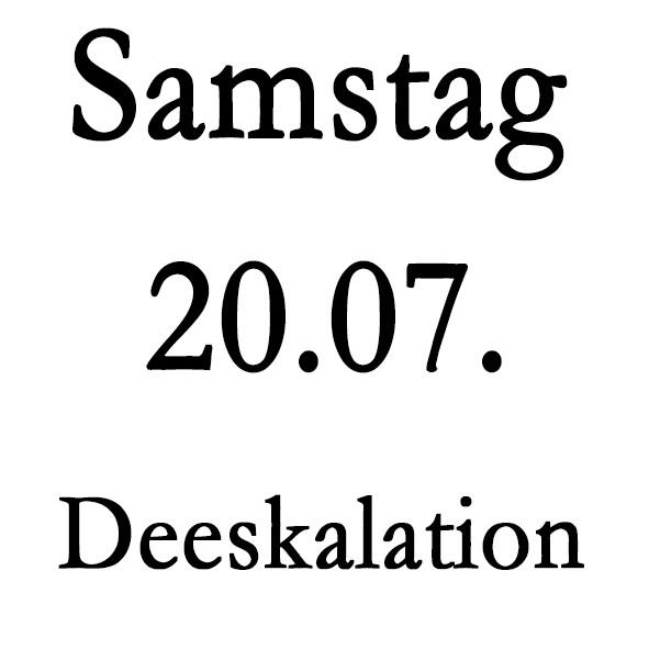 Samstag, 20.07. Deeskalationstraining